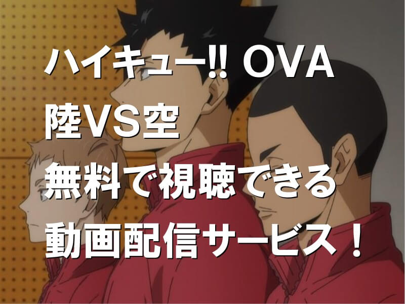 ハイキュー!! OVA 陸VS空 無料で視聴できる動画配信サービス!